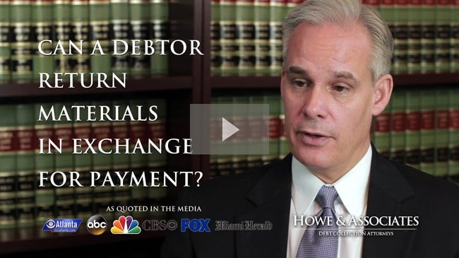 Can A debtor Return Materials in Exchange for Payment in Georgia?